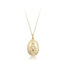 9ct Yellow gold Miraculous Medal & Chain