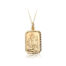 9ct St Christopher Rectangular Medal & Chain ( Plain back perfect for engraving)