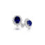 9ct Yellow Gold Lady Di Sapphire Cluster Earrings