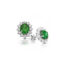 9ct Yellow Gold Lady Di Emerald Cluster Earrings