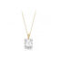 9ct Yellow Gold Emerald Cut Cluster Pendant & Chain